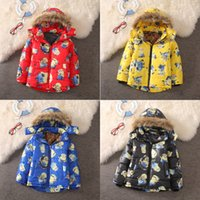 Wholesale EMS Fashion Minion Jackets Childrens Winter Outwear Kids Clothes Despicable Me Boys Warm Coats Minions Down Coat can choose size E212