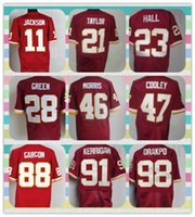 american football jersey products - New Product Washington Men s American Football GRIFFIN III JACKSON TAYLOR HALL DAVIS KERRIGAN KNIGHTON Red Elite Jersey Shirt