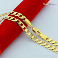 Wholesale High Quality K Gold Necklaces Jewelry Chain Men Necklaces