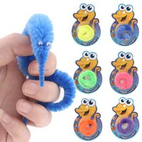 trick worms - Magic Twisty Fuzzy Worm Wiggle Moving Sea Horse Kids Trick Toy Caterpillar