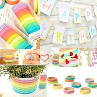bedroom colors decor - Hot Sales Home Decor Sticky Masking Adhesive Decorative Washi DIY Tapes Stickers colors in a SETS C278