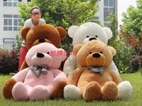 achat en gros de grandeur nature anniversaire ours-2015 nouvelle 160cm Taille vie rose poupée en peluche Teddy Bear Grande Vente géant Big Peluches Teddy Bears Valentines / Noël anniversaire Jour GiftS7