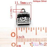 antique treasure chests - Charm Pendants Treasure Chest Antique Silver x10mm K10013 years silver heatsink silver mat silver mat