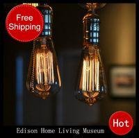 aluminum tungsten - hot Edison bulb lamp aluminum line ceiling base tungsten pendant personalized retro Edison