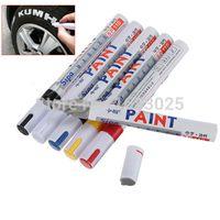 Wholesale 2pcs Brand New Whatproof Permanent Paint Marker Pen Car Tyre Tire Wheel Metal Rubber Plastic