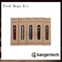 Cheap Kanger Evod Mega Kits Kangertech Evod Mega E-cigarette Starter Kit With 2.5ml Atomizer 1900 mAh Battery 100% Original VS Subox Mini Kit