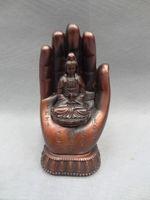 art statue - 2014 Special Offer Top Fasion Folk Art China Figurine Chinese Pure Buddhism Hanzi Kwan yin Pot Guanyin In Buddha Head Statue