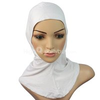 Wholesale 1X Women Hijab Cap Hat Under Scarf Head Wear Band Neck Chest Cover White New