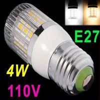 Wholesale 110V E27 W SMD5050 LED Corn Light White Warm white LED Bulb Lamp with Cover degree Spot light