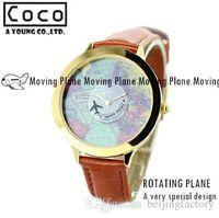 airplane dress - Mini world new brand fashion watch map airplane travel around the world polymer clay leather strap women dress watch A2