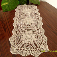 cotton table runner - creamy cotton crochet table runner for coffee table IKEA new fashion tableware fashion crochet decoration towel