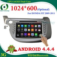 Wholesale Android HD optional Capacitive screen din Car DVD Player car radio for HONDA FIT car audio gps navigation