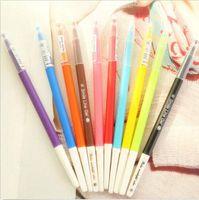 Wholesale 10PCS Gel Pen Stationery Watercolor Pen Cute Gel Pen Black Ink Diamond Color Candy Color Pen
