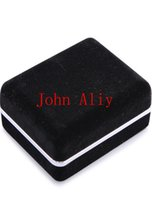 Wholesale Popular New Arrive Promotion Black Velvet Cufflink Box Best gift box for Cufflinks