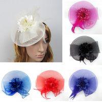 Headbands ascot - Bride Hair Bands Large Headband Aliceband Hat Fascinator Mesh Weddings Ladies Day Race Royal Ascot