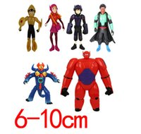 Wholesale 6 styles Big Hero Baymax Toys For Children Beast corps PVC Action Figures Christmas Gfit