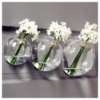 Wholesale set of glass wall bubble terrarium glass bowl indoor wall vase for wall decor home decor house ornament gifts for friends