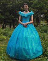 fancy dress sexy - 2015 New arrive adult cinderella costumes princess cinderella sexy cosplay costume fantasy for women fancy blue dress evening dresses