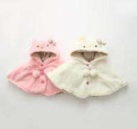 baby girl modeling - Baby Kids Hooded Cloak Winter New Fashion Style Girls Leisure Coat Cute Kitty Modeling Baby Hoodies Outwears Fit Age T1564