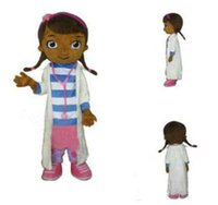 Wholesale New product Classic Set White Pink doc mcstuffins mascot Adult costume Fancy Dress