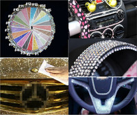 Wholesale 504 sheet MM Bling Personalized Crystals Rhinestones Self Adhesive Stickers For Car Mobile PC Decoration