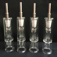 Tuyau de paille de miel Avis-Nectar Collector avec Titanium Clous 14mm Grade 2 Titanium Mini tube en verre Oil Rig Miel Paille Concentré Honey Dab Paille Mini Glass Bong