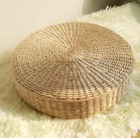 straw mat - Handmade cm Round Natural Zafu Floor Seat Tatami Mat Chair Cushion