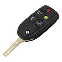 Wholesale 5 Buttons Remote Flip Folding Key Shell Case For Volvo XC70 XC90 V50 V70 S60 EMH
