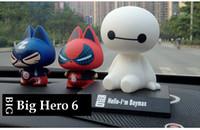 Wholesale Big Hero Baymax Car Interior Decoration Dolls shaking head Baymax toys For