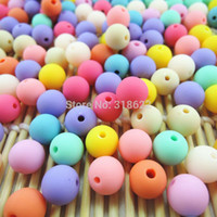 Wholesale 6mm mm mm mm mm Mixed Color Acrylic Round Beads Soild Color Gumball Neon Rubber Beads For Diy Jewelry Making