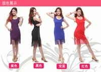 Wholesale New Adult Sexy Latin Dance Costumes Fringed Latin Show Skirts Practice Square Dancewear A0467