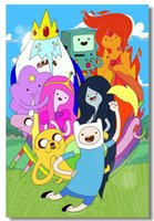 adventure movie posters - Adventure Time with Finn and Jake Home Decor Movie Poster Customized Fashion Classic x76 cm Wall Sticker