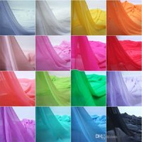 bridal fabric - In Stock Colors Chiffon Fabric Sheer Bridal Wedding Dress Lining Fabric Skirt quot Wide Yards Per