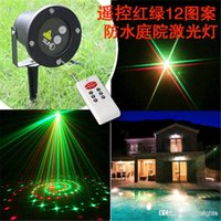 Wholesale Remote Controller in1 Xmas Outdoor IP65 waterproof Laser stage light pattern elf lighting red green firefly lamp projector