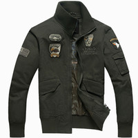 air force clothing - Men jacket slim fit Army Military Washing cotton Air force one jacket casual clothing Spring Autumn Mens jackets Plus size M XL