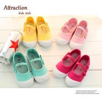 Wholesale 2015 Little Baby Girls Canves Bow First Walk Shoes Infant Baby Girl Candy Color Dancing Shoes Baby Soft Bottom Anti slip Shoes Babies Shoes