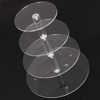 Wholesale Hot Brand New Assemble and Disassemble Round Acrylic Tier Cupcake Cake Stand For Birthday Wedding Party Cake Shop Home