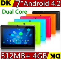 Wholesale DHL inch dual core android tablet pc Q88 pro Allwinner A23 android dual camera WIFI OTG capacitive screen cheapest NEW