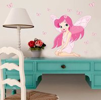 beautiful people movie - Beautiful Fairy Princess Butterfly Decals Art Mural Wall Sticker Kids Girl Room Decor Pink Color