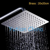 Stainless Steel other other Free shipping 8 inch Retail Luxury Square Stell OverHead rain Shower head, stainless steel Shower head, bathroom Shower,YT-5115
