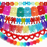 balloon shades - 3M Paper Flowers Butterflies Love Bear Balloon Garland Birthday Party Scene Layout Window Shade Home Decoration