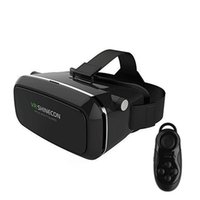 Wholesale 2016 VR Shinecon Plastic VR D Glasses google cardboard HD Glasses for inch Phone Bluetooth Wireless Mouse gamepad VR BOX