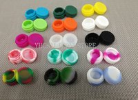 Wholesale 1000pcs ML oil slick silicone jars dab wax container mmX17mm