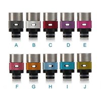 brass fitting - 2 Puffs Drip Tips Air Control Puffs Drip Tip Delrin Aluminum brass RDA Drip Tips Colorful Drip tip fit RDA Atomizer DHL Free