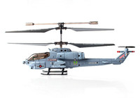 plastic model aircraft - mini Drone with LED Electric helicopter SYMAS108G G channels remote control aircraft AH Cobra military aviation model toys gifts