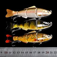 Wholesale Long Shot Jointed Sections Artificial lures cm g Segments Fish Shaped Vib Fishing Lures