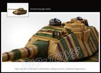 Wholesale New Coming Gift COLLIDE German King Tiger War Tanks Channel RC Remote Control Tank Infrared Shoot Beat Game Electric Toys