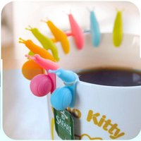 Wholesale Randome Color Cute Snail Shape Silicone Tea Bag Holder Cup Mug Candy Colors Gift Set GOOD tea infuser silicone tetera TY510