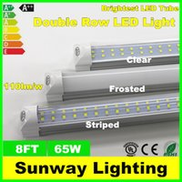 Wholesale Double Row LED T8 Tube FT W LM SMD integrated LED Light Lamp Bulb feet m led lighting fluorescent