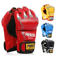 Wholesale Grappling MMA UFC Sparring Boxing Fight Punch Ultimate Mitts Sanda Half Gloves